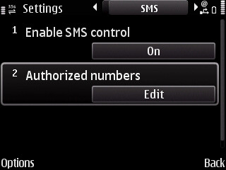 Screenshot Remote sms